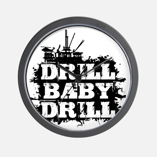 DrillBabyDrill Wall Clock