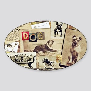 Vintage Dog Sticker (Oval)