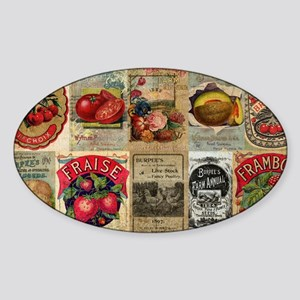 Vegetable Farmer Sticker (Oval)