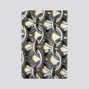 Chainmail Texture Rectangle Magnet