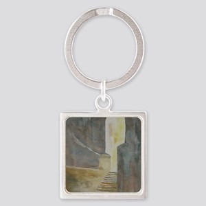 Twelve Steps into the Light Square Keychain