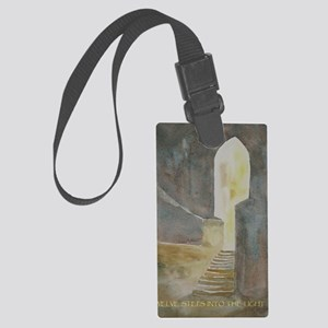 Twelve Steps into the Light Large Luggage Tag