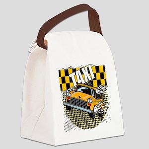 TAXI-LIGHT-TEE-DESIGN Canvas Lunch Bag