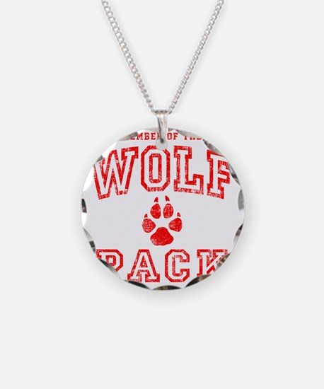 Wolfpack Red Necklace