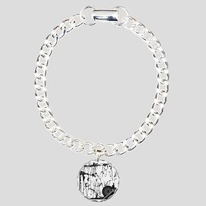Lung Cancer Warrior Charm Bracelet, One Charm
