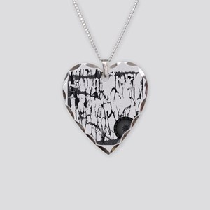 Lung Cancer Warrior Necklace Heart Charm