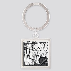 Lung Cancer Warrior Square Keychain