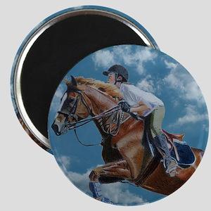 Horse Jumper in the Clouds Magnet