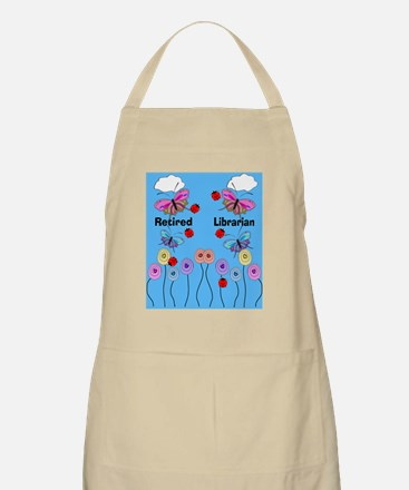 retired librarian 2 Apron