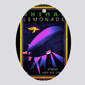 music animal lemonade Oval Ornament