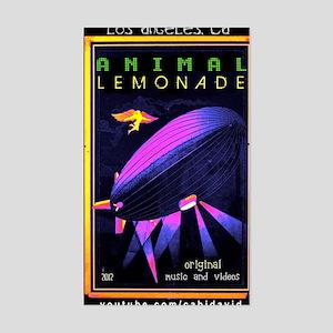 music animal lemonade Sticker (Rectangle)