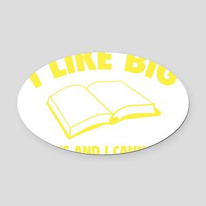 likeBooks1F Oval Car Magnet