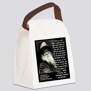 Whitman School Quote 2 Canvas Lunch Bag
