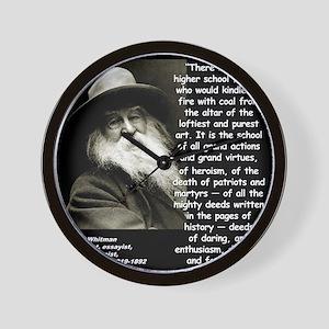 Whitman School Quote 2 Wall Clock