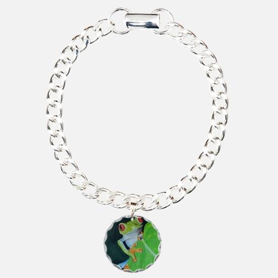 Peekaboo Tree Frog Bracelet