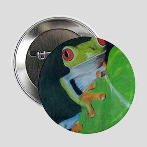 """Peekaboo Tree Frog 2.25"""" Button"""