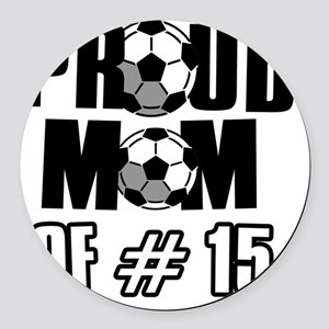 number15 Round Car Magnet