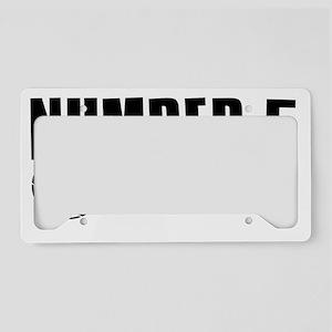 number5 License Plate Holder