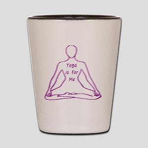 Yoga Body Spirituality Shot Glass