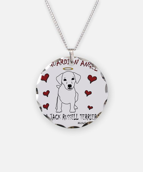 JackRussellWt Necklace Circle Charm
