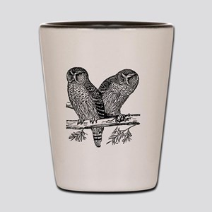 Two Owls Shot Glass