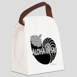Aloha Insai (black) Canvas Lunch Bag