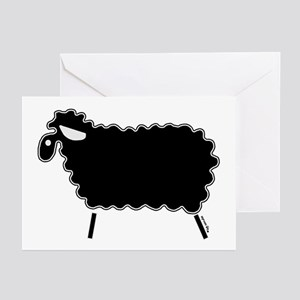 Single Black Sheep Greeting Cards (Pk of 10)