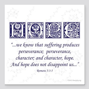 "Hope Square Car Magnet 3"" x 3"""