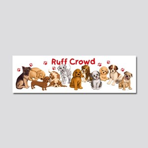 Dogs_Ruff_Crowd_B Car Magnet 10 x 3