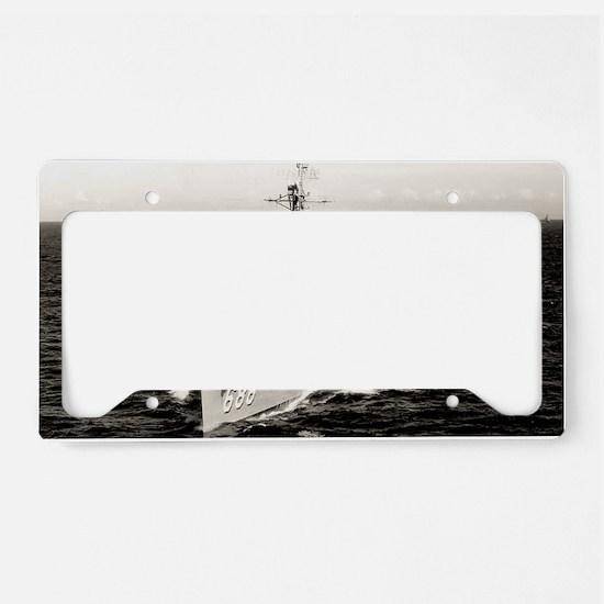 hpowell framed panel print License Plate Holder