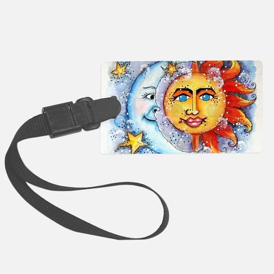 Celestial Sun and Moon Luggage Tag