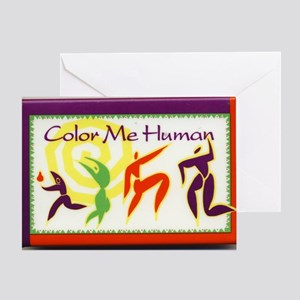 Color Me Human Greeting Card