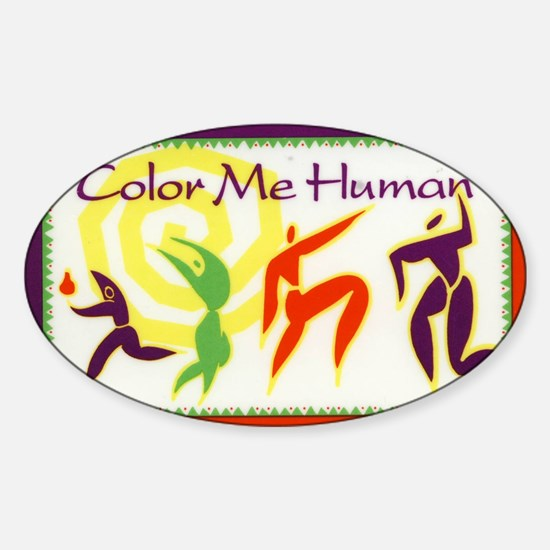 Color Me Human Sticker (Oval)