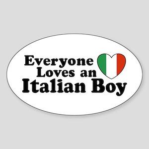 Everyone loves an italian boy Oval Sticker
