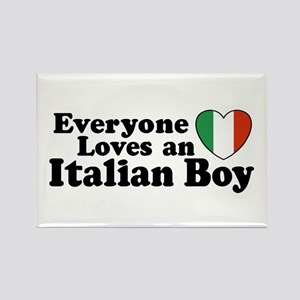 Everyone loves an italian boy Rectangle Magnet
