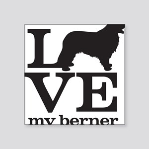 "Love my Berner Square Sticker 3"" x 3"""