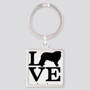 Love my Leonberger Square Keychain
