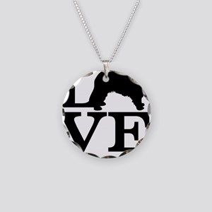 Love my Leonberger Necklace Circle Charm