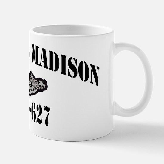 jmadison black letters Mug
