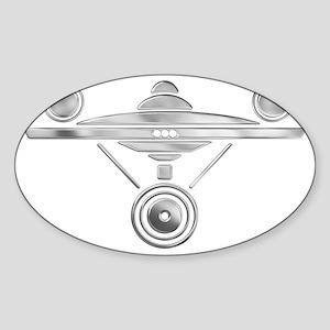 Enterprise Silver Sticker (Oval)