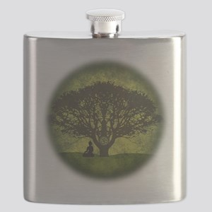 Buddha Beneath the Bodhi Tree Flask
