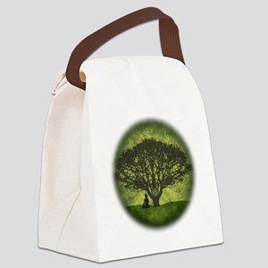 Buddha Beneath the Bodhi Tree Canvas Lunch Bag