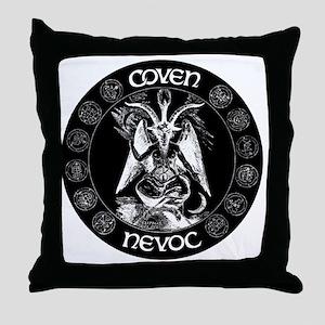 coven nevoc logo Throw Pillow