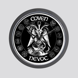 coven nevoc logo Wall Clock