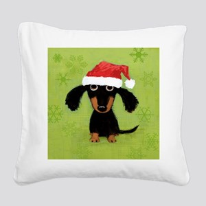 doxieflakes Square Canvas Pillow