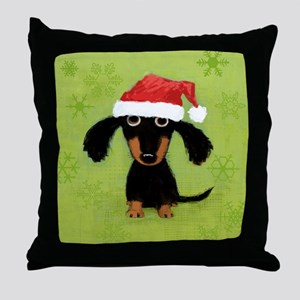 doxieflakes Throw Pillow