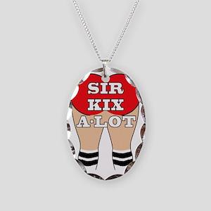 SKA logo Necklace Oval Charm