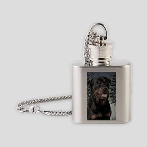 2012RottieCard Flask Necklace