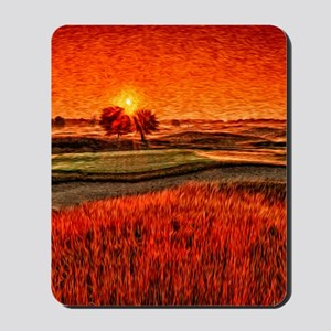 Fiery Sunrise Over the 16th Green Shower Mousepad