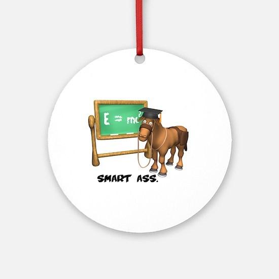 Smart Ass Donkey Ornament (Round)
